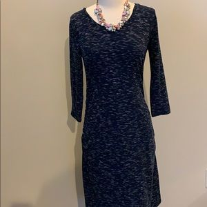 3/4 Sleeve Midi Navy Maternity Dress!